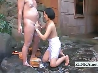 Asian CFNM Handjob Japanese Old and Young Small cock