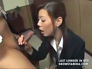 Asian Blowjob Japanese MILF Secretary Small cock