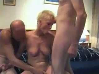 Amateur Blowjob Mature Older Threesome Wife