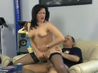 Hardcore Mature Riding SaggyTits Stockings