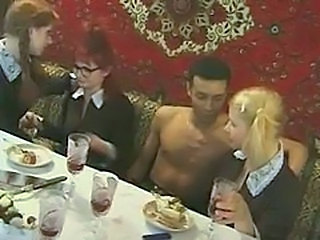 Amateur Drunk Glasses Groupsex School Teen Uniform Vintage