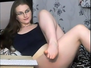 Glasses Legs MILF Russian Solo Webcam