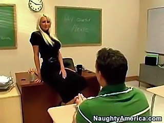 Amazing Blonde MILF School Teacher