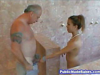 Asian Bathroom Old and Young Skinny Small Tits Teen Thai