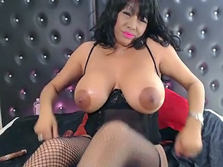 Anal Big Tits British Lingerie MILF Oiled Stockings