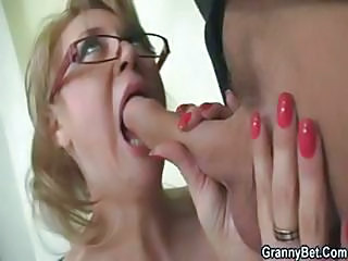 Mature Blonde Office Boss Makes...
