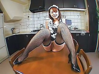 Perverted Asian Maid Pissing All...