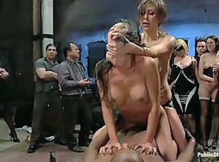 Roped bdsm slave Asian cock in every hole