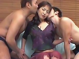 Asian Japanese Kissing Mature Threesome