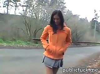 Amateur Cute Outdoor Teen