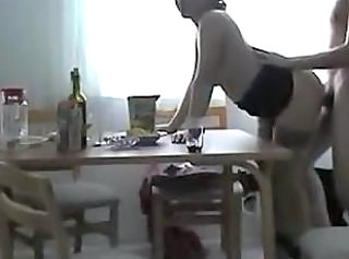 Amateur Chubby Doggystyle Kitchen Mature