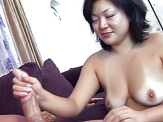 Asian Handjob MILF SaggyTits