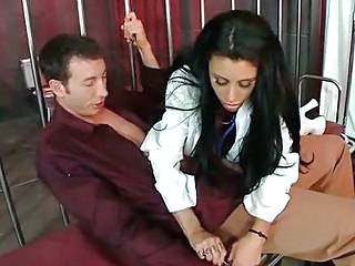 Amazing Brunette Cute Doctor MILF Uniform