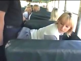 Asian Blonde Bus Cute Doggystyle Hardcore Japanese Teen