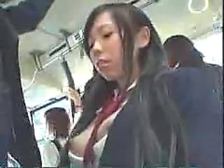 Amazing Asian Bus Japanese Public Student Teen