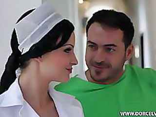 Babe Brunette Nurse Pornstar Uniform