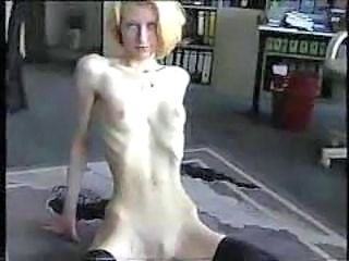 Freak of nature 6 anorexic blond