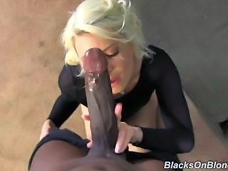 Babe Big cock Blonde Blowjob Interracial