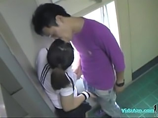Asian Girl In Training Dress Sucking Cock Licked And Fingered Fucked From...