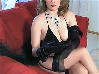 Amazing Big Tits MILF Natural Stockings