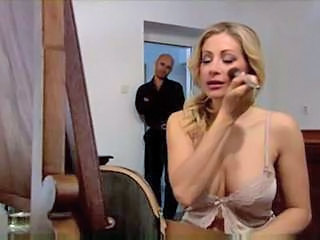 Blonde Double Penetration Lingerie MILF Natural