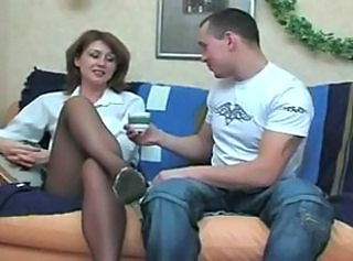 Jambes MILF Collants