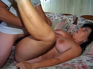 The granny get hard rammed into her ass by a young hard cock