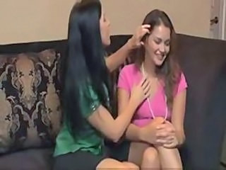 Brunette babe forced young beauty allie haze for first time