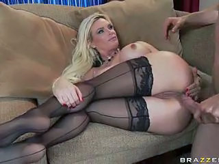 Anal Blonde MILF Pornstar Stockings