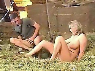 Chubby German Handjob Outdoor
