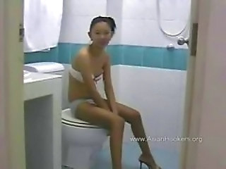 Teenager Thailansklandsk Toilet