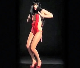 Brunette Celebrity Dancing Latex