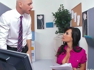 Big Tits Brunette MILF Office Secretary