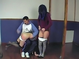 French Spanking Student Teacher