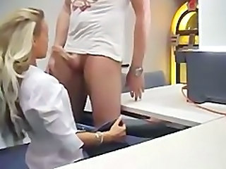 beautiful blonde caught on cam