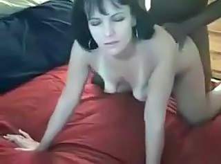 Amateur Brunette Cute Doggystyle Interracial SaggyTits