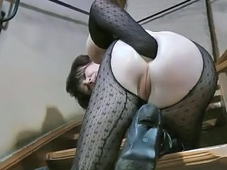 Anal Brunette Fisting Pantyhose