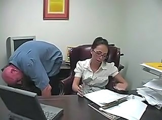 Brunette Glasses Office Secretary