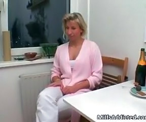 Blonde Kitchen MILF