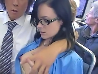 Asian Glasses Japanese Pornstar Public