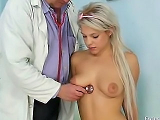 Blonde Cute Doctor Teen Uniform