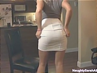 Ass Blonde Kitchen Skirt Wife