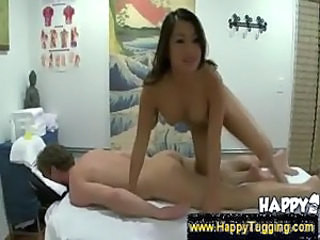 Asian masseuse touch