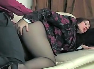 Clothed Doggystyle MILF Pantyhose Russian