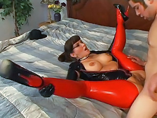 Amazing Car Clothed Fetish Hardcore Latex MILF