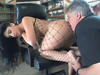 Ass Babe Brunette Feet Fishnet