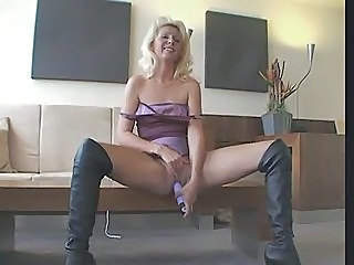 Blonde European German Masturbating MILF Toy