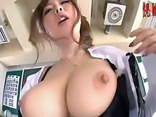Amazing Asian Big Tits Cute Japanese MILF Natural Nipples Teacher