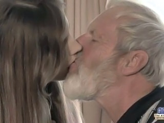 Daddy Daughter Kissing Old and Young