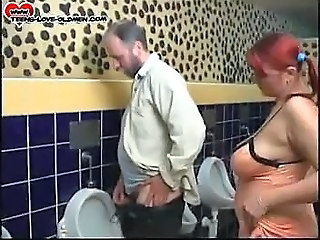 Amateur Chubby Old and Young Pigtail Redhead Teen Toilet